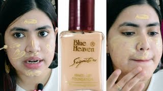 Blue heaven foundation review for OILY skin Affordable foundation under Rs 100 Wear test