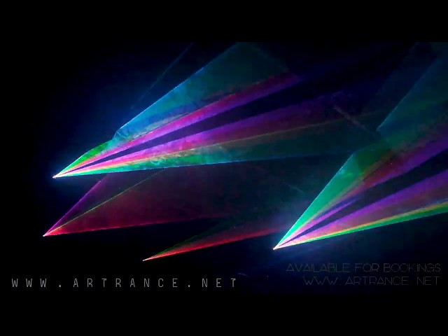 Live Laser Show Demo #1 // Artrance Visionary Collective