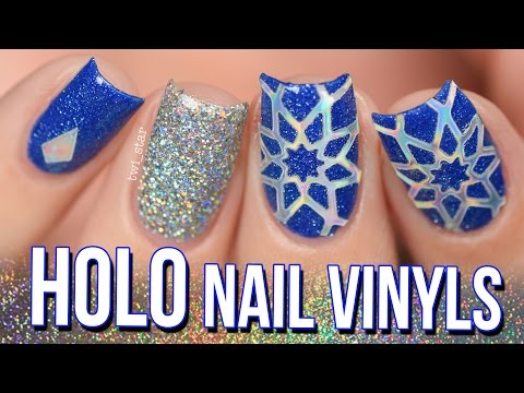 Holo Nail Vinyls and Kylie Jenner Kobalt by Sinful Colors Review! - How To Holo #3