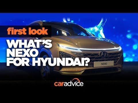 Hyundai Nexo hydrogen fuel-cell SUV: CES walkaround