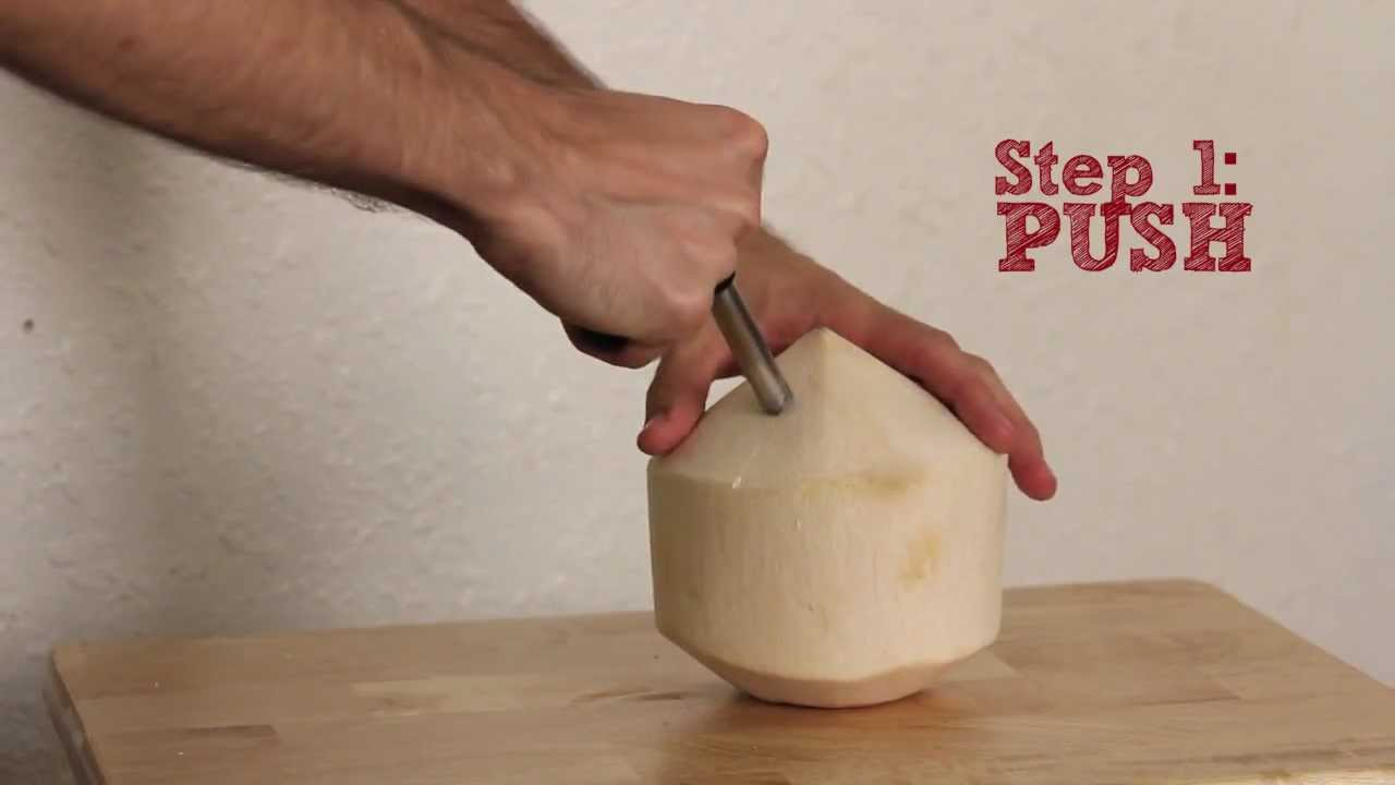 Cocodrill Young Coconut Opener Tool Punch Tap Into Raw Coco Water Opening A Hole For A Straw
