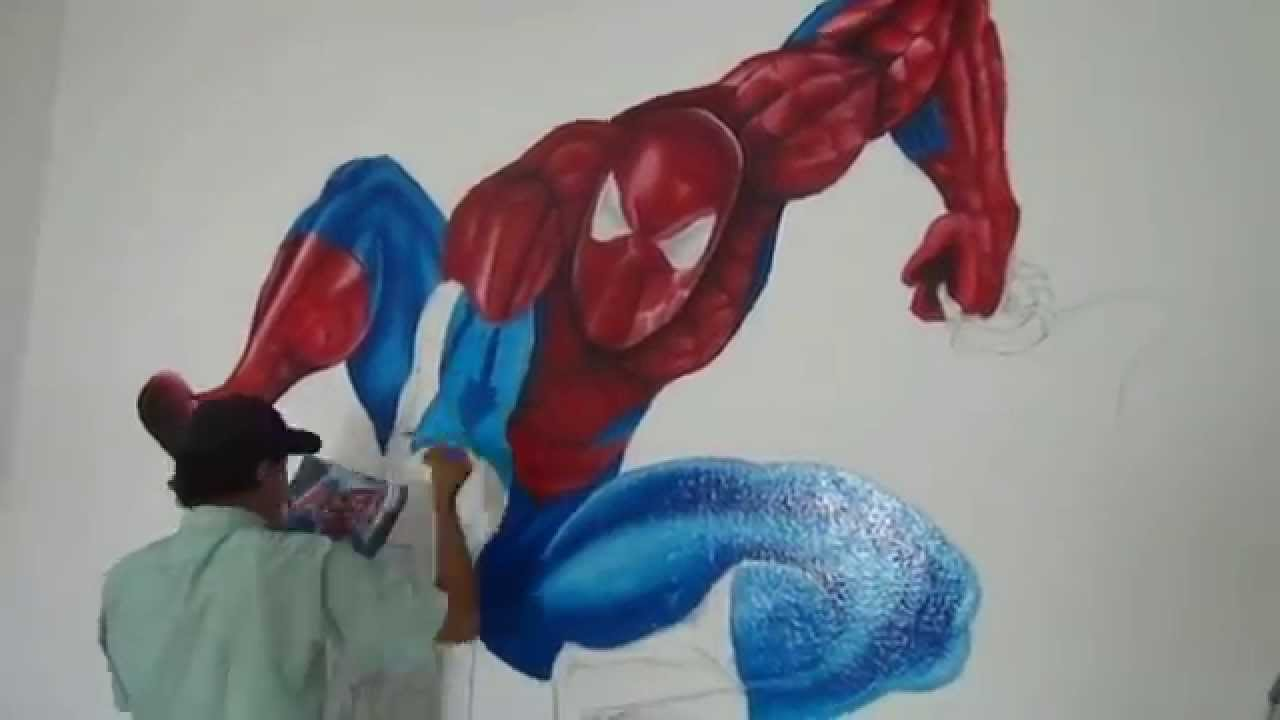 How to paint spider man wall painting youtube how to paint spider man wall painting amipublicfo Choice Image