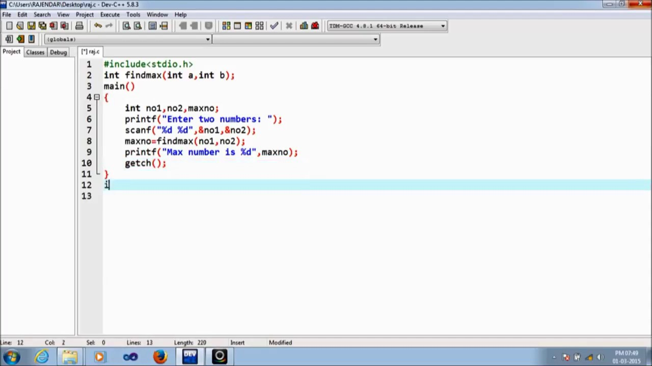 how to add 2 functions c