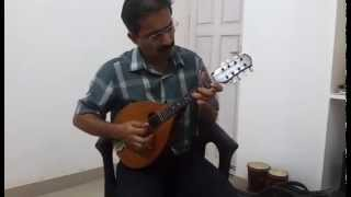 """Yeh mausam rangeen sama"" on mandolin"
