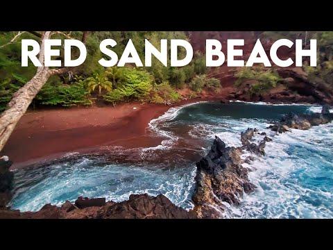 Maui's Gorgeous Red Sand Beach | Road to Hana | Maui HAWAII