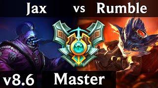 JAX vs RUMBLE (TOP) /// Korea Master /// Patch 8.6