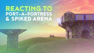 DAKOTAZ REACTING TO THE NEW PORT-A-FORTRESS AND SPIKED ARENA! - (Fortnite Battle Royale - Dakotaz)