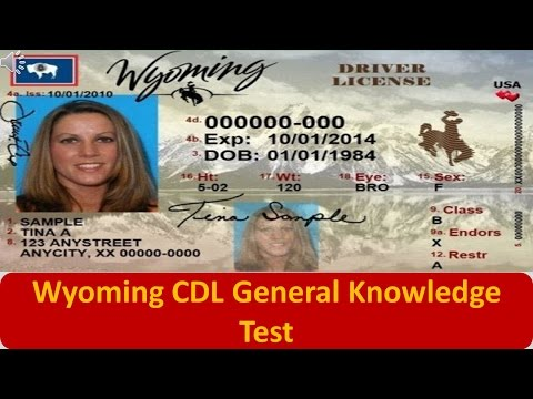 Wyoming CDL General Knowledge Test