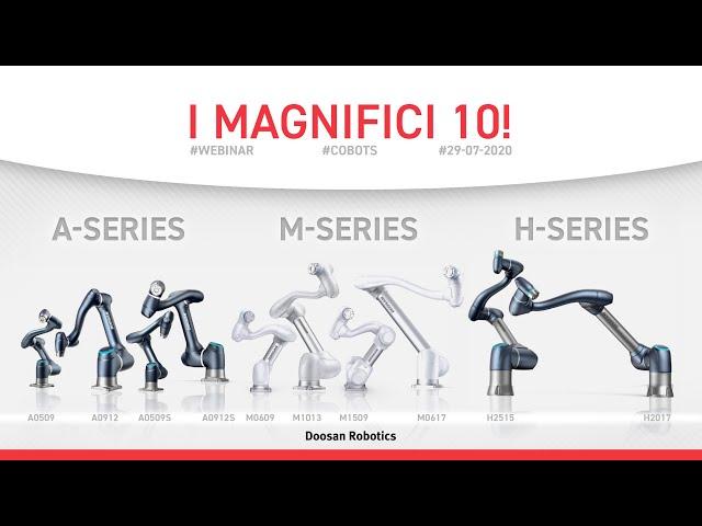 Presentazione I Magnifici 10 Cobot di Doosan Robotics by Homberger Spa