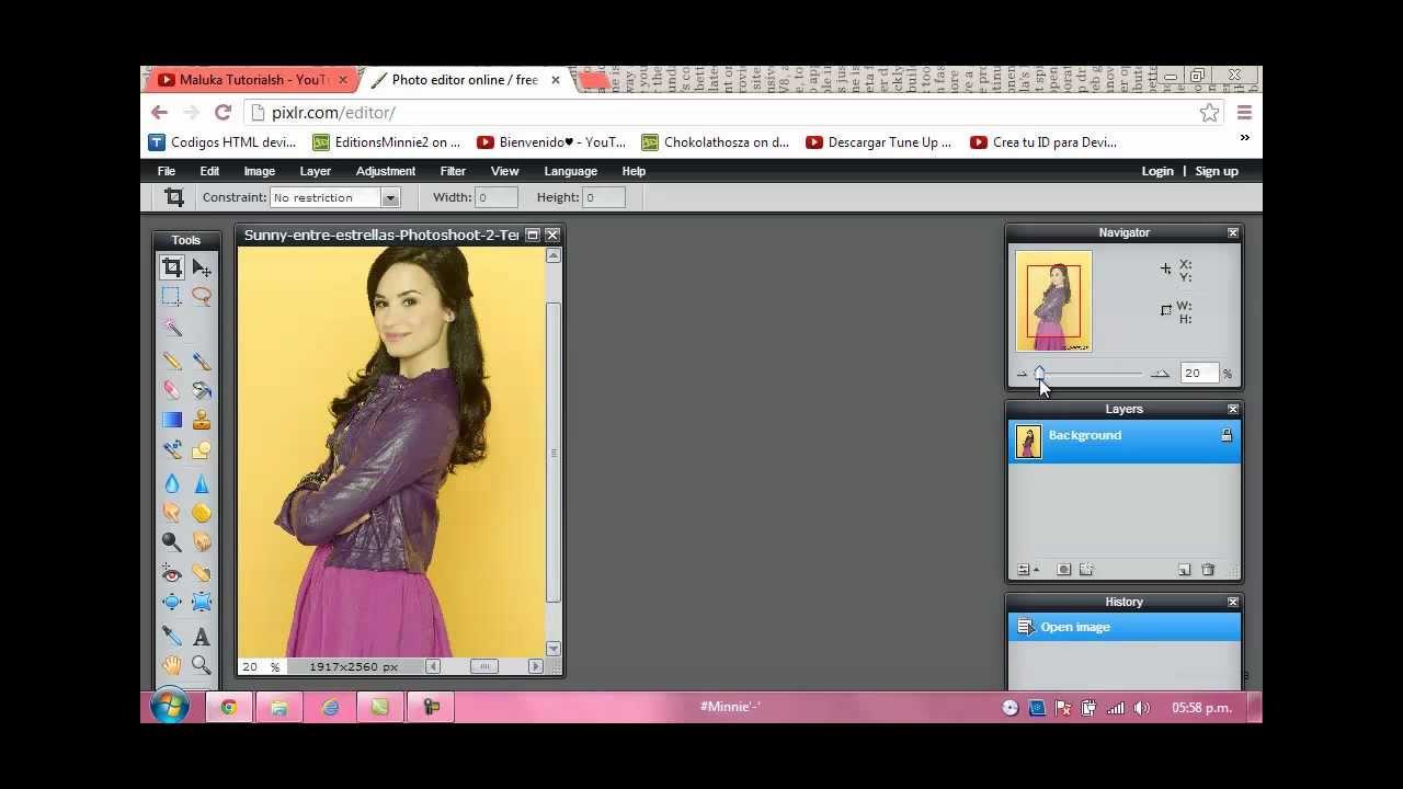 Como hacer un PNG en PIXLR. *Editor de Fotos Online ...