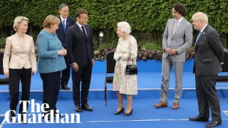 'Enjoying yourself?': Queen jokes with G7 leaders in family photo