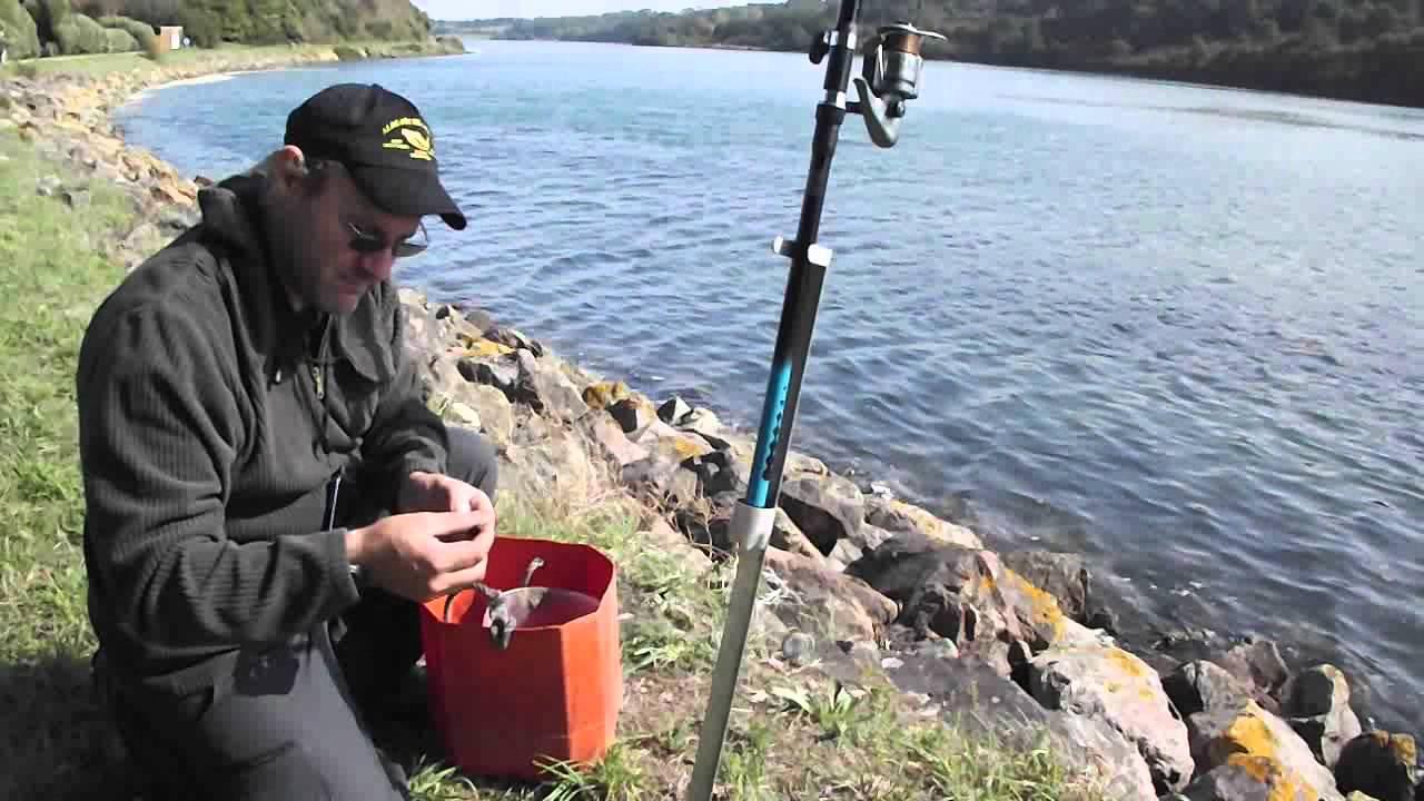 La pêche dhiver sur le devon de vidéo.