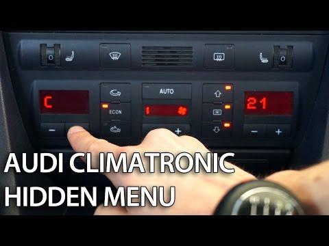 How to enter hidden menu in Climatronic Audi A6 C5