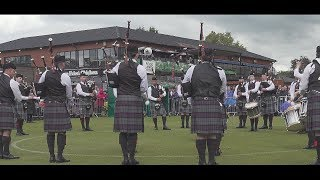 Scottish Power Pipe Band under Pipe Major Chris Armstrong and Drum ...