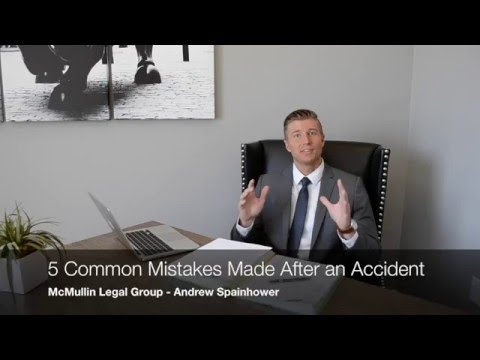 Top 5 Mistakes Made After a Car Accident