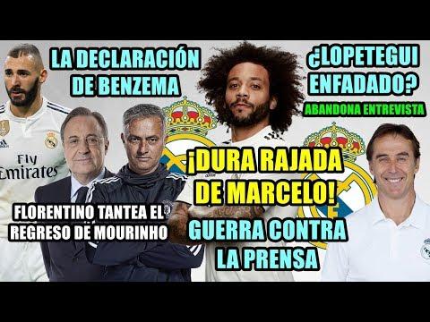 ¡DURA RAJADA DE MARCELO CONTRA LA PRENSA! | CONTACTOS MOURINHO | LOPETEGUI ABANDONA ENTREVISTA