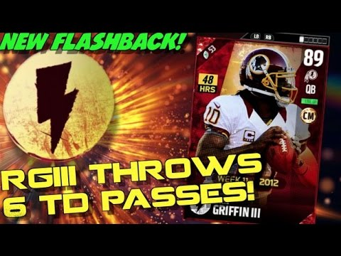 NEW FLASHBACK ROBERT GRIFFIN III THROWS 6 TDS PASSES! 61-0!? MADDEN ULTIMATE TEAM 17