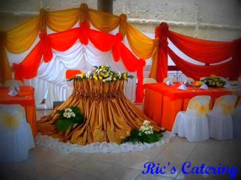 Ric's Catering Wedding Set up - YouTube