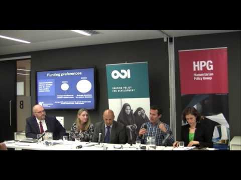 Private funding of humanitarian aid: is this the future? - Part 1 (Panel discussion)