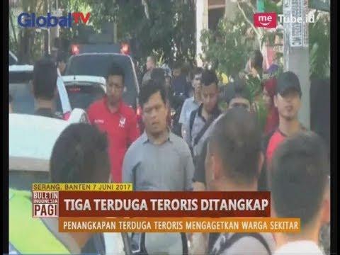 3 Terduga Teroris Ditangkap Densus 88 di Wilayah Cilegon & Serang Banten