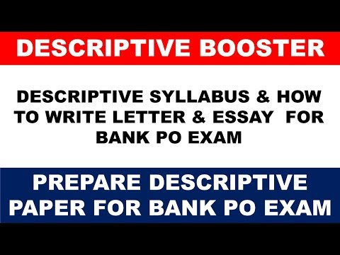 SBI PO EXAM 2017 : Descriptive Paper Syllabus and How to Write Letter & Essay
