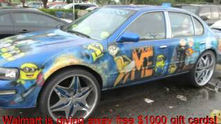 Funny vehicles at walmart ~new~ the car with giant mouth is so crazy!