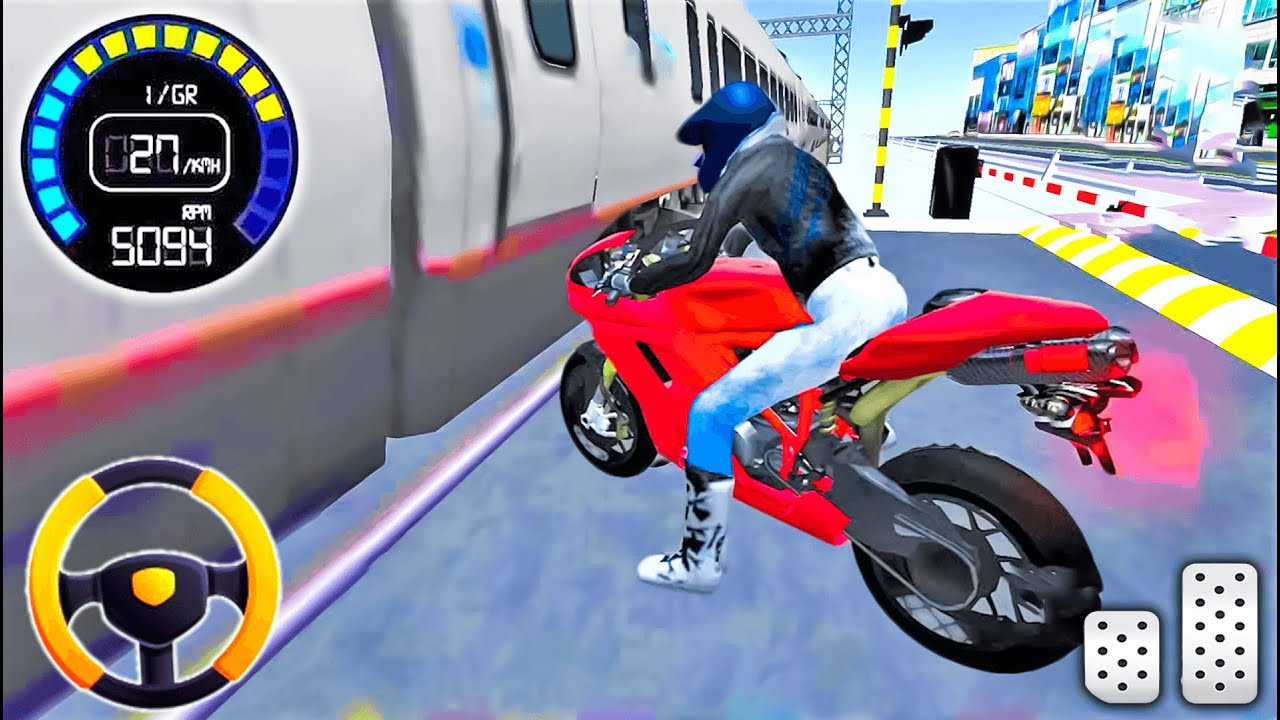 Cool Games For Android - Motorcycle vs Train ? 3D Driving Class - the best offline games for android