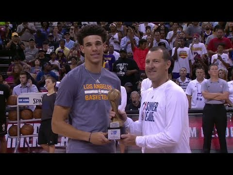 Lonzo Ball Receives MVP Trophy | ESPN