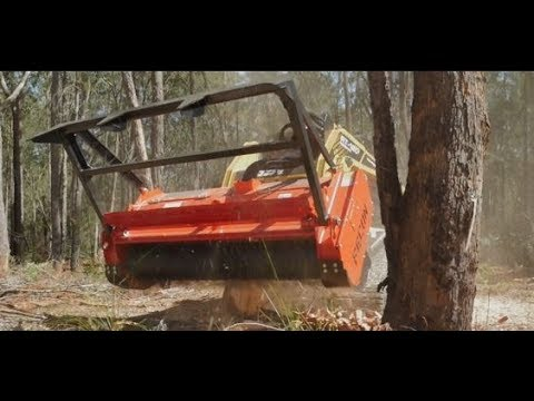 ASV RT120 FORESTRY POSI TRACK LOADER AND FECON BULL HOG MULCHER