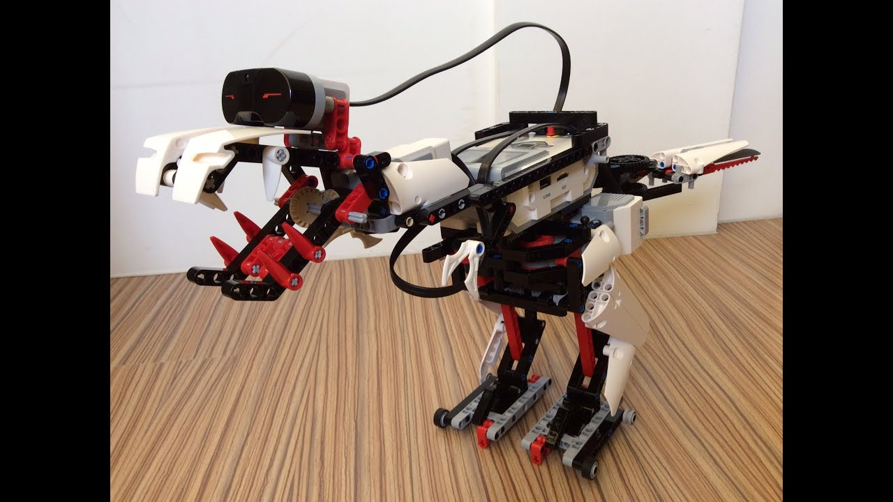 Fabuleux A Tyrannosaurus Rex robot building with Lego Mindstorms EV3 - YouTube MA33