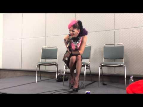 Violet doing Alyssa impersonation at  taping of Alyssa&39;s Secret at DragCon