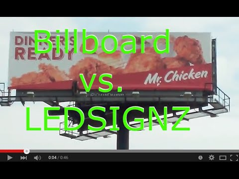 Billboard vs Led Digital Screen Display Outdoor Sign Advertising