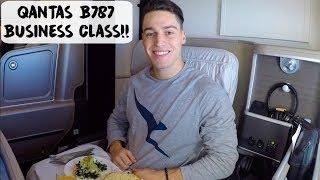 QANTAS BOEING 787 BUSINESS CLASS SUITE!!   USA - VLOG #75