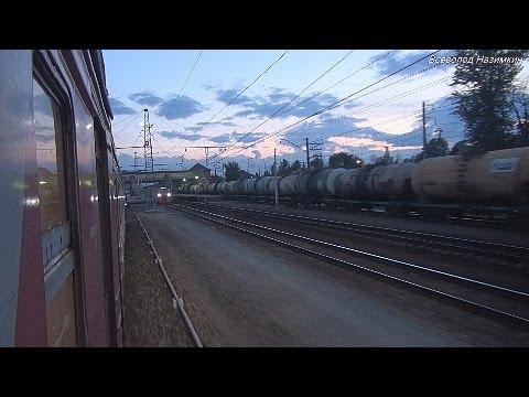 """Ранняя электричка"": от Лобни до Дегунино в электропоезде ЭР2Р (07.2014)"