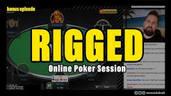 Rigged - Online Poker Session w/ Wes Cutshall - Poker Vlog