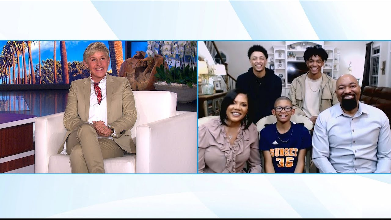 Ellen Meets Family from Viral Good News Video