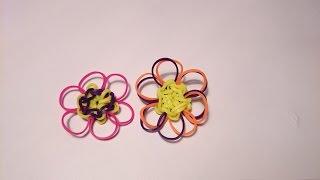 Цветок, БЕЗ СТАНКА,  Радужки Rainbow Loom