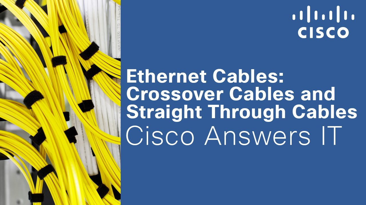 medium resolution of crossover and straight through ethernet cables cisco answers it youtube