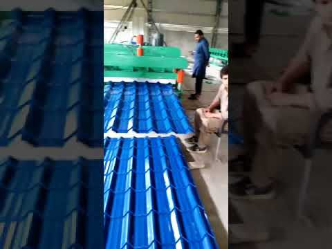 Corrugated Iron Sheet Roofing Tile Making Machine Color ...