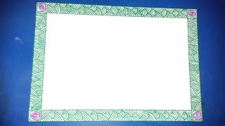 Simple border design for school project | easy border design for assignment | on paper for projects