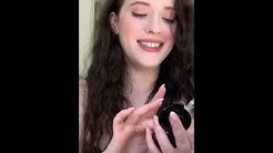 kat dennings tries some makeup products