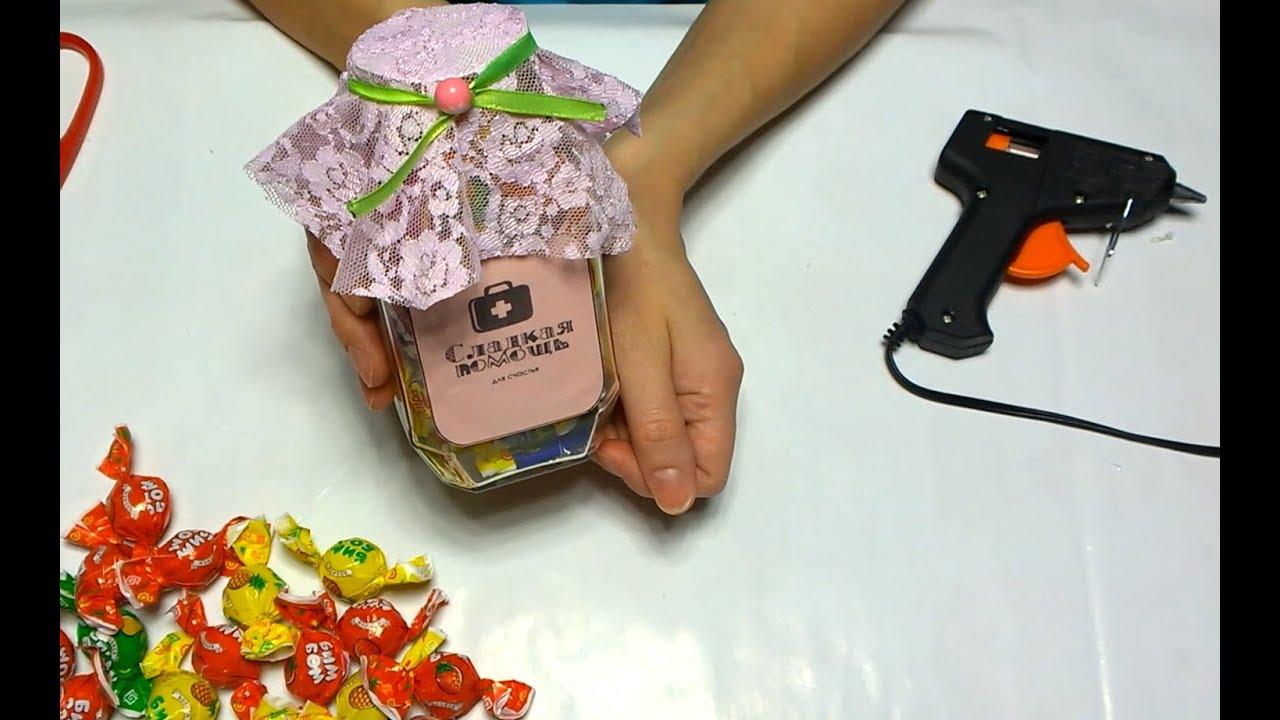 Сладкий подарок из конфет Уроки Рукоделия 20