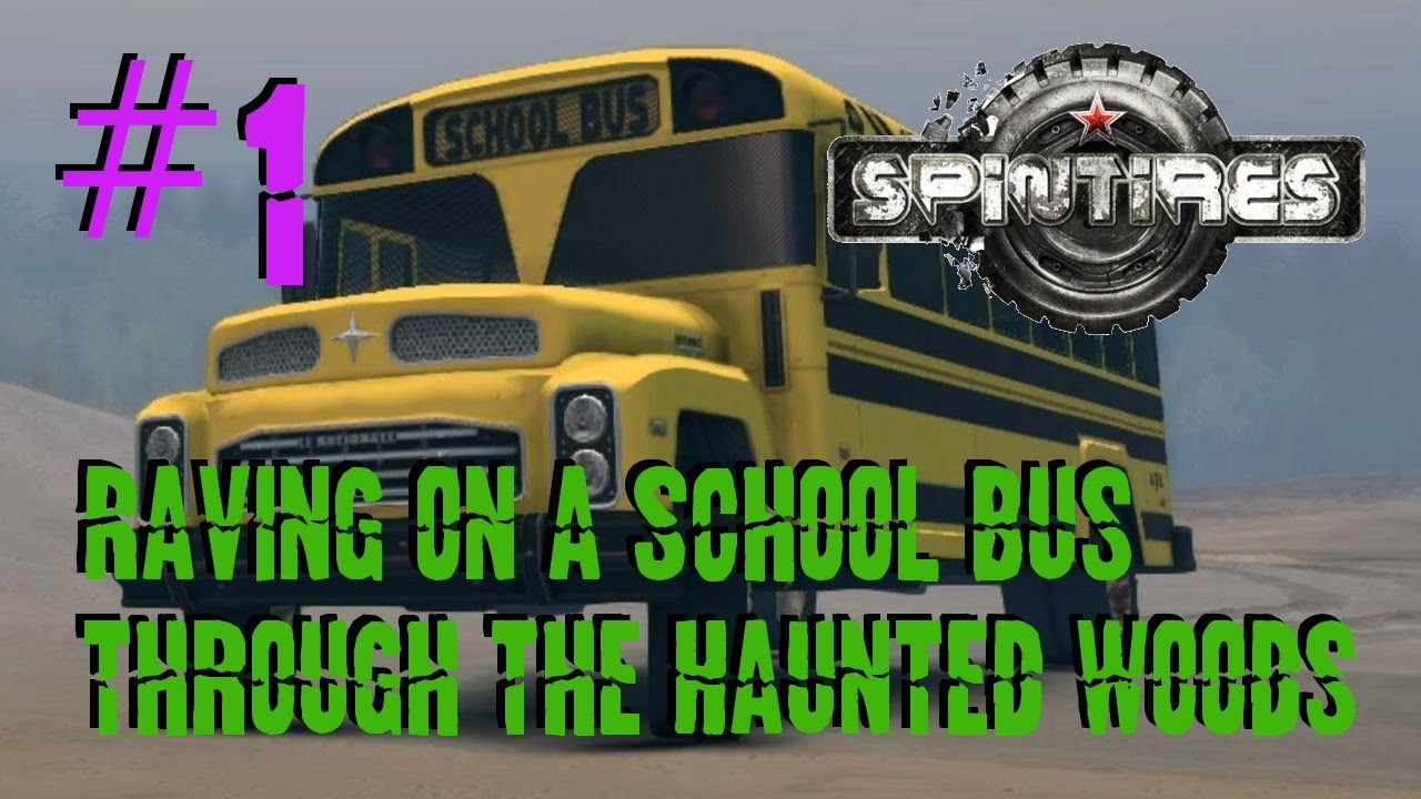 spin tires extreme raving 4wd school bus through dirt