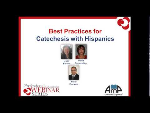 Best Practices for Catechesis with Hispanics Webinar