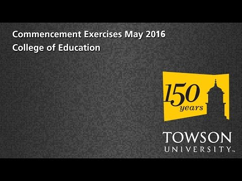 TU Commencement May 2016 - Coll. of Education