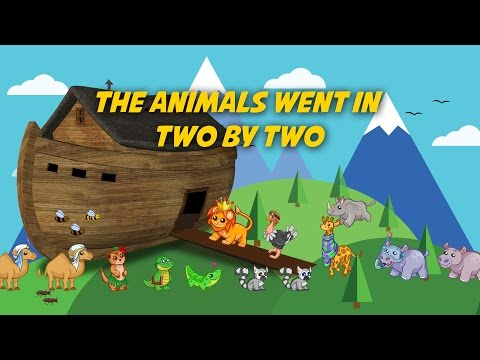 The Animals Went in Two by Two | Free Nursery Rhymes [Karaoke with Lyrics]