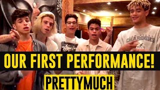 FIRST LIVE PERFORMANCE | PRETTYMUCH Explains Everything!