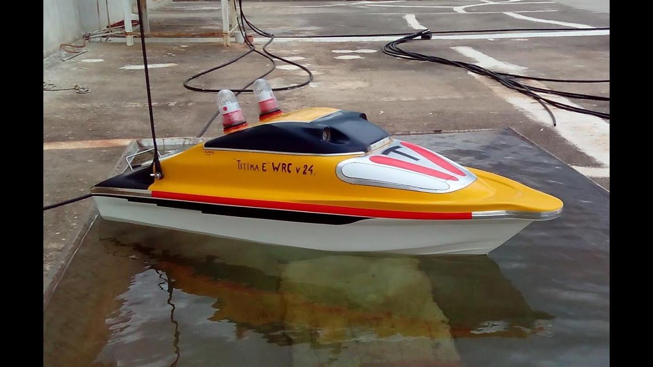 Boat rc fishing boat titika e wrc v 24 youtube for Rc fishing boat