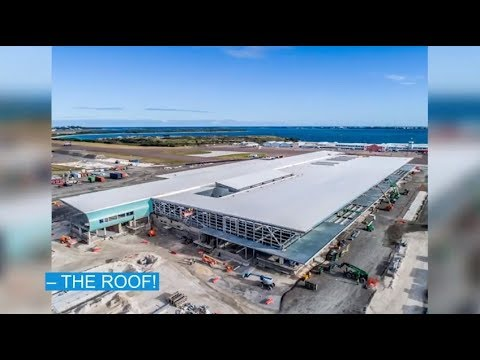 'Taking Off' On New Airport Terminal Roof, January 31 2019