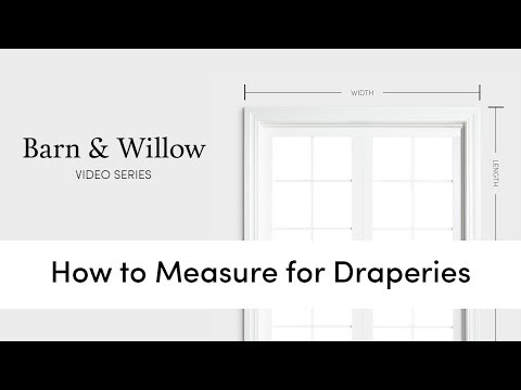 How to Measure For Draperies